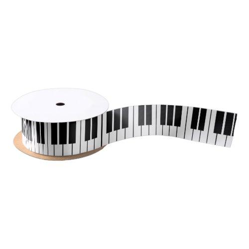 Black and white piano keys keyboard gift ribbon