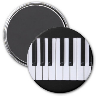 Black and White Piano Keys Magnet