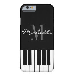 Black and white piano keys monogram iPhone 6 case