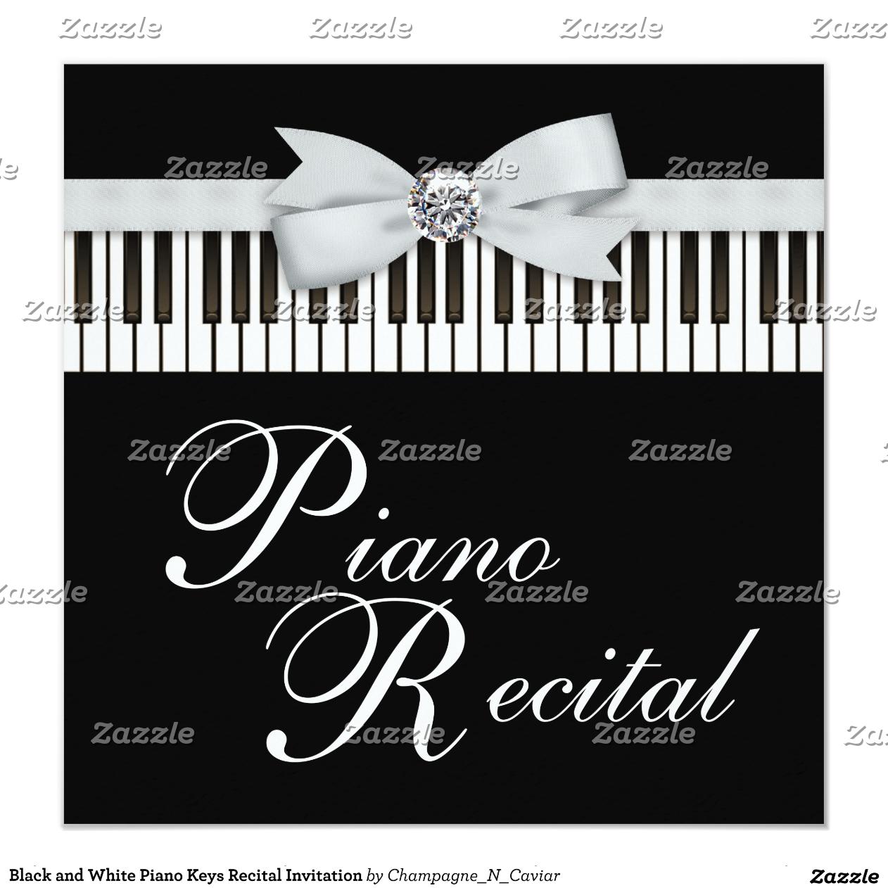 Piano Recital Gifts Piano Recital Invitation by
