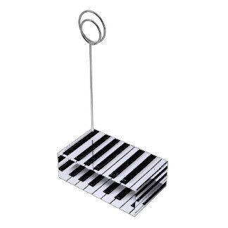 Black and White Piano Keys Table Card Holder