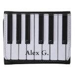 Black and White Piano Keys Wallet