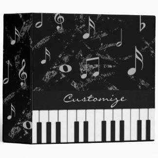 Black and White Piano Music Binder 2