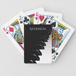 Black and White Piano Music Playing Cards