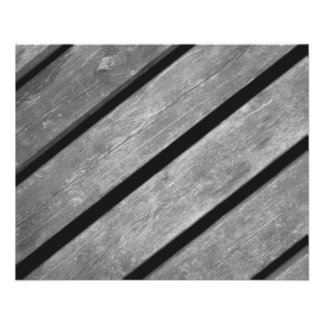 Black and White Picture of Wood Planks Flyer
