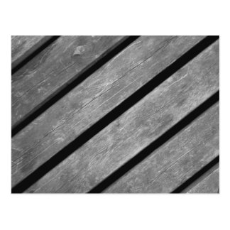Black and White Picture of Wood Planks Postcard