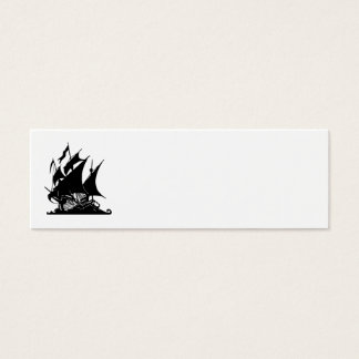 Black and White Pirate Ship Mini Business Card