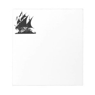 Black and White Pirate Ship Notepad