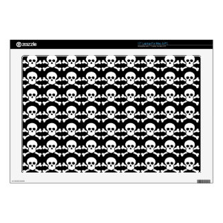 black and white pirate skull decals for laptops