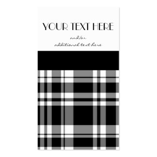 Black and White Plaid Double-Sided Standard Business Cards (Pack Of 100)