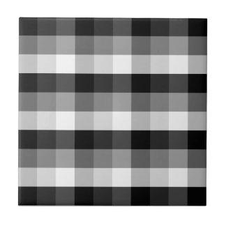 Black and White Plaid Ceramic Tile