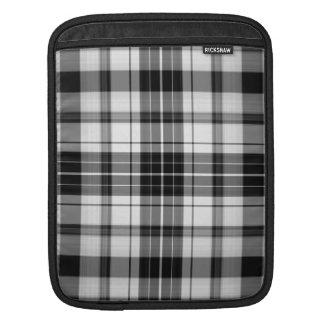 Black and white plaid i pad  Rickshaw Sleeve Sleeves For iPads