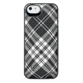 Black and White Plaid Uncommon Power Gallery™ iPhone 5 Battery Case