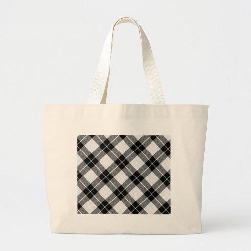 Black and White Plaid Jumbo Tote Bag