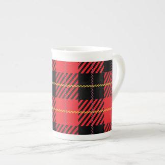 Black and White Plaid Tea Cup
