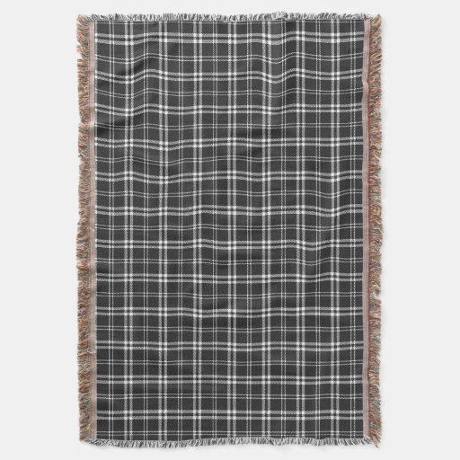 black and white plaid throw blanket zazzle. Black Bedroom Furniture Sets. Home Design Ideas