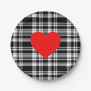 Red And White Plaid Plates Zazzle  sc 1 st  Best Image Engine & Amusing Red And White Checkered Paper Plates Images - Best Image ...