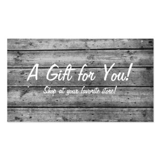 Black and White Planked Gift Card
