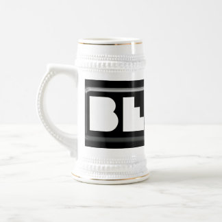 Black and White Plastic BEERS Brewing Company Beer Stein