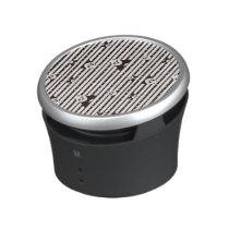 Black and White Po Pattern Bluetooth Speaker