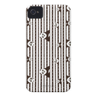 Black and White Po Pattern iPhone 4 Case-Mate Case