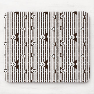 Black and White Po Pattern Mouse Pad