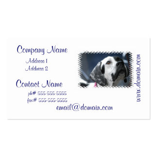 Black and White Pointer Dog Business Cards
