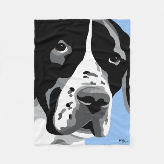 Black and White Pointer Gifts Fleece Blanket