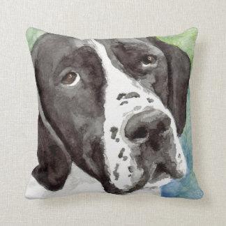 Black and White Pointer Pillow