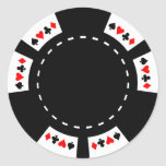 Black and White Poker Chip Stickers