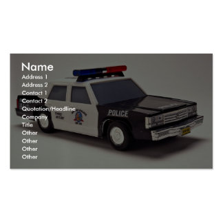 Black and white police car business card template