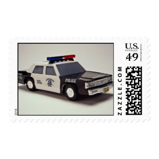 Black and white police car stamps