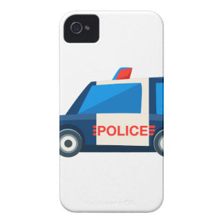 Black And White Police Toy Cute Car Icon iPhone 4 Case-Mate Case