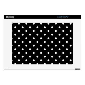 "Black And White Polka Dot 15"" Laptop Decal"