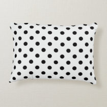 Black and White Polka Dot Accent Pillow