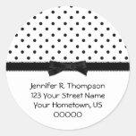 Black and White Polka Dot Address Stickers