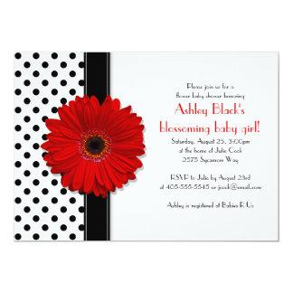 Black and White Polka Dot Baby Shower Invitation