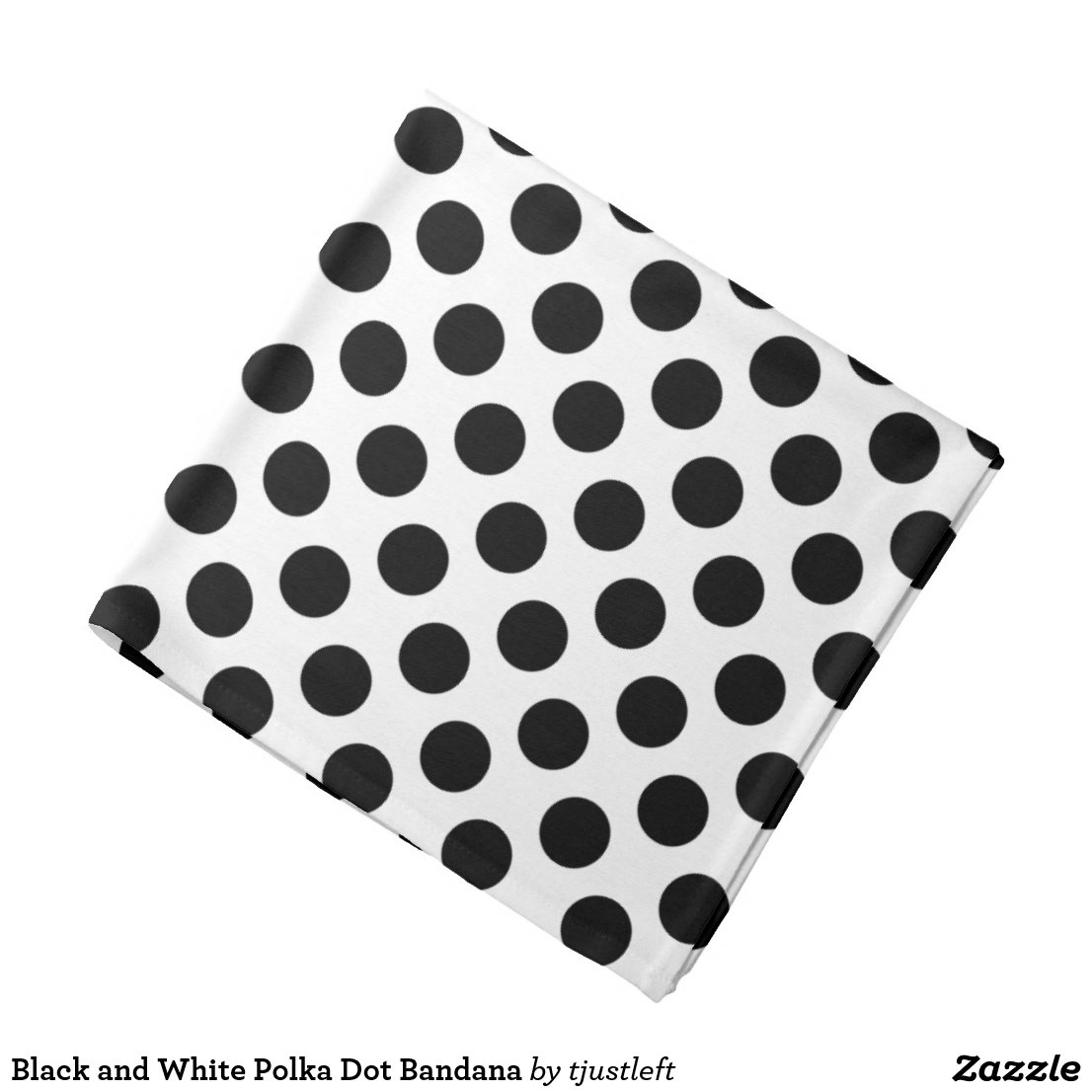 Black and White Polka Dot Bandana