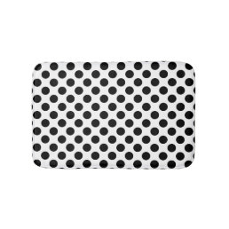 Black and White Polka Dot Bathroom Mat