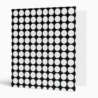 Black and White Polka Dot Binder