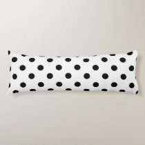 Black and White Polka Dot Body Pillow