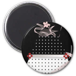 Black and White Polka Dot Bridal envelope seals Magnet