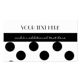 Black and White Polka Dot Business Card