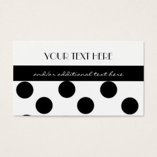 Black and White Polka Dot Business Card
