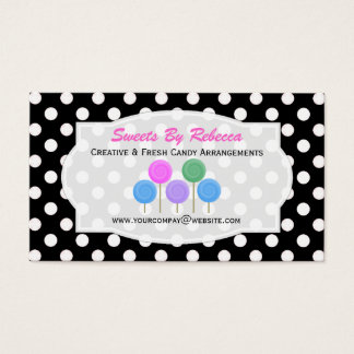 Black And White Polka-dot: Candy Business Card