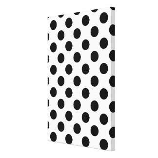 Black and White Polka Dot Canvas Art