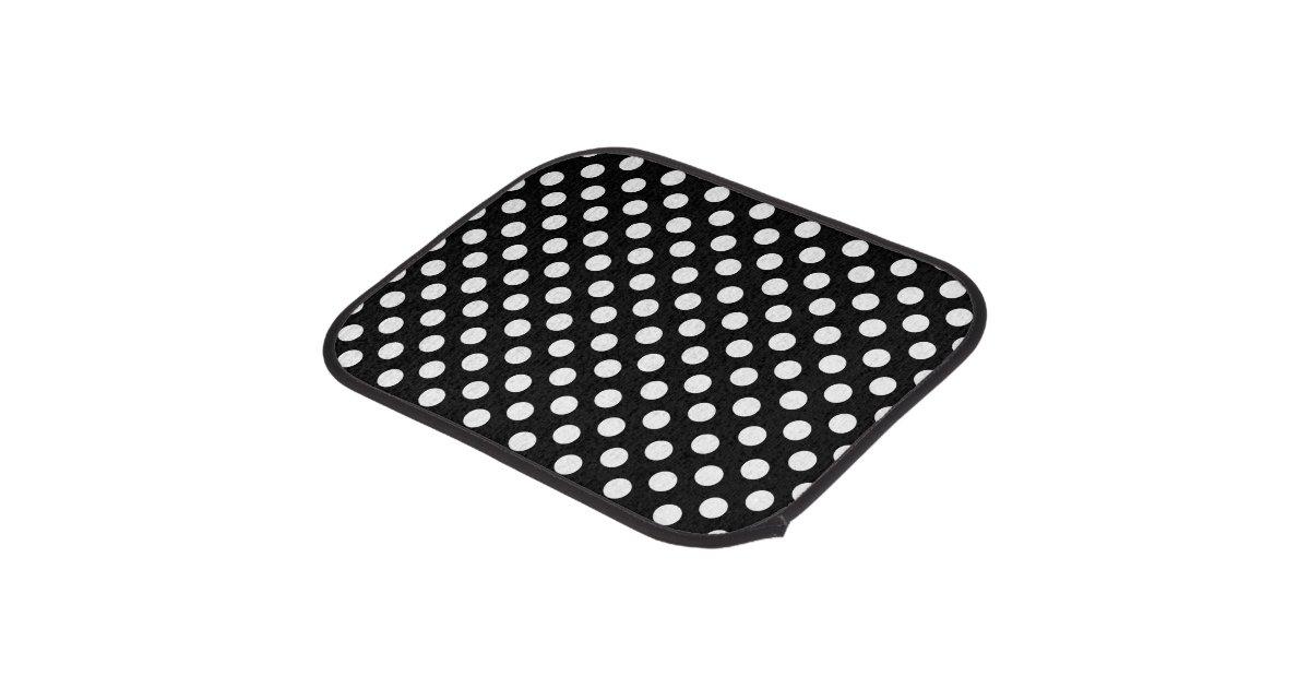 Black and white polka dot car mat set zazzle for 100 floor halloween level 1