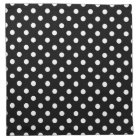 Black and White Polka Dot Cloth Napkin