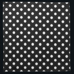 "Black and White Polka Dot Cloth Napkin<br><div class=""desc"">Vintage style Black and White polka dot pattern. Retro design chic.</div>"
