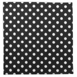 Black and White Polka Dot Cloth Napkin<br><div class='desc'>Vintage style Black and White polka dot pattern. Retro design chic.</div>